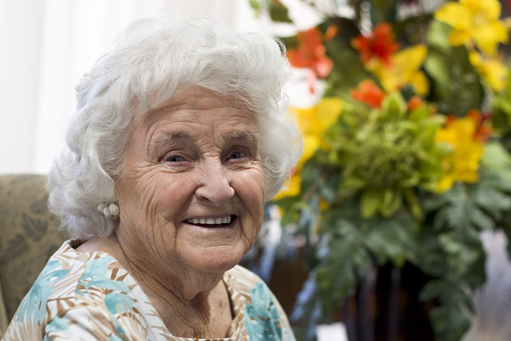 Christian Care Resident in Lobby