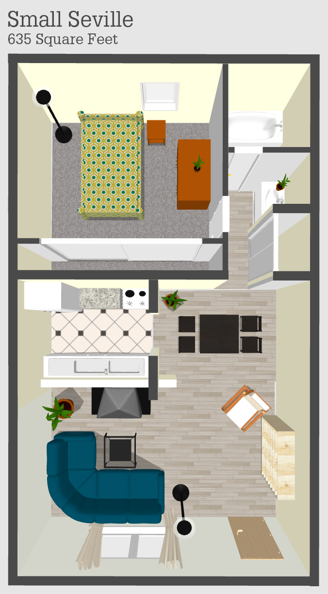 Small Seville Apartment Floor Plan