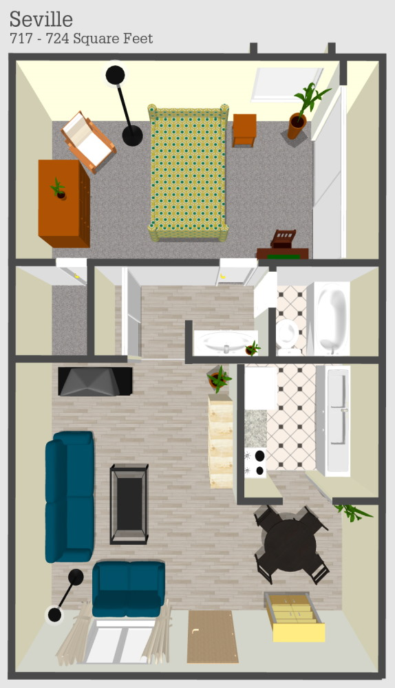 Seville Apartment Floor Plan