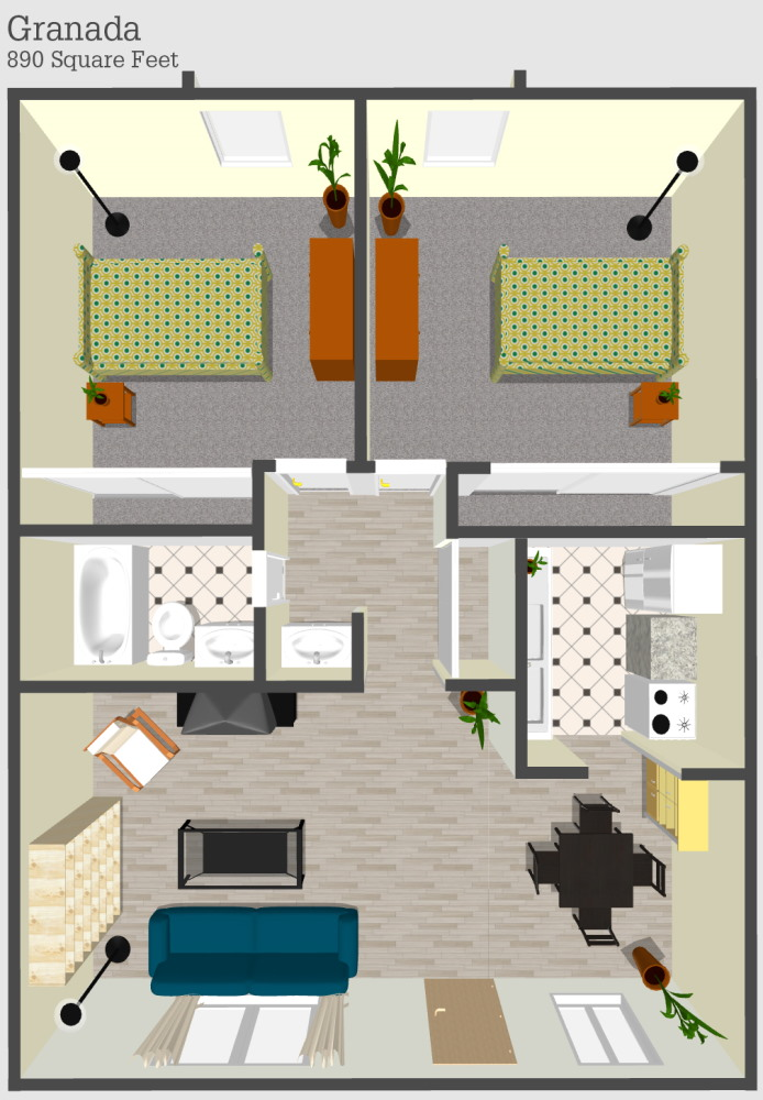 Granda 1 Apartment Floor Plan