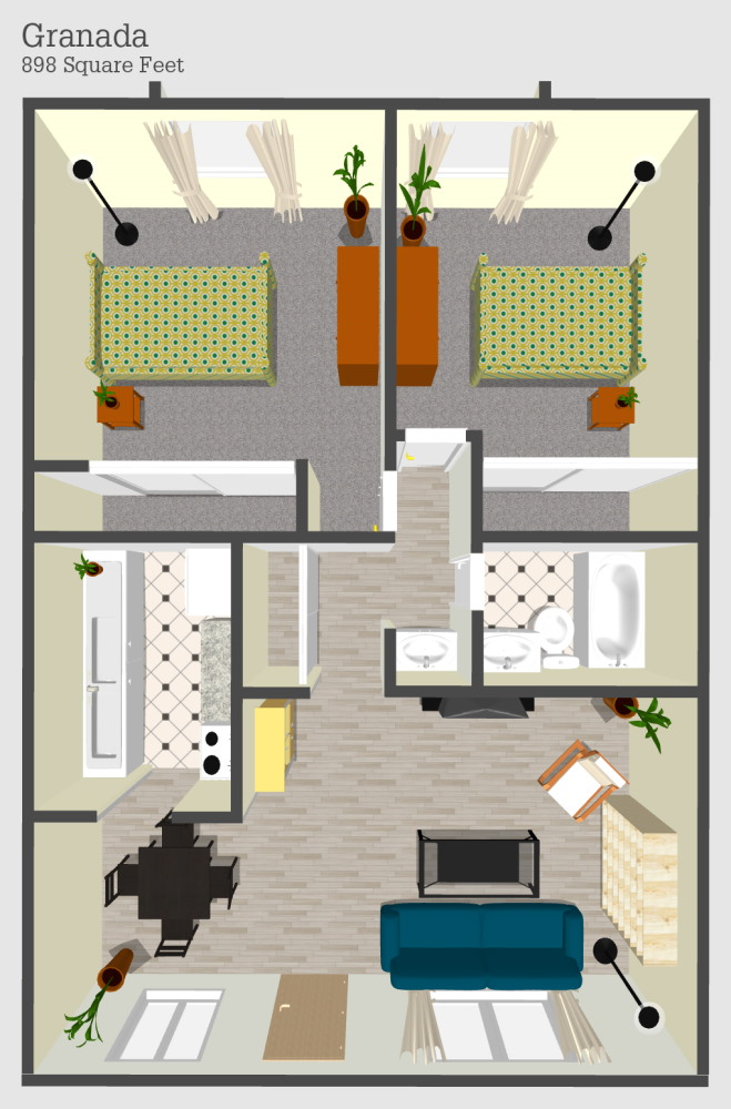 Granada 2 Apartment Floor Plan