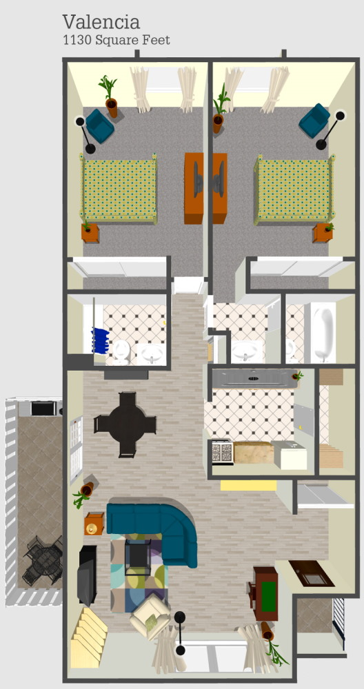 Valencia Apartment Floor Plan