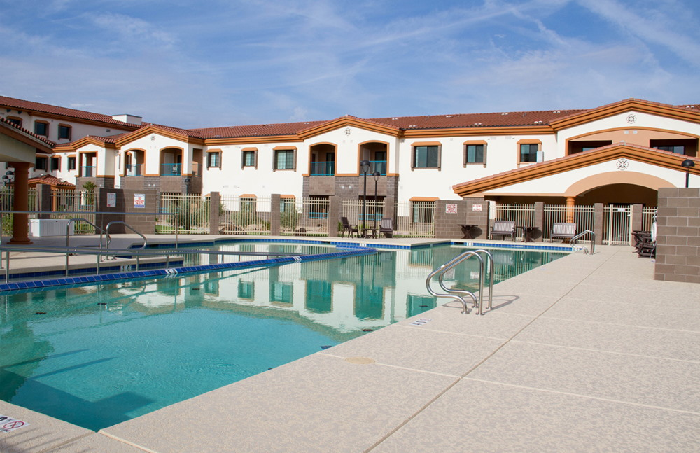 Cool off or exercise in our large pool at Fellowship Square Surprise