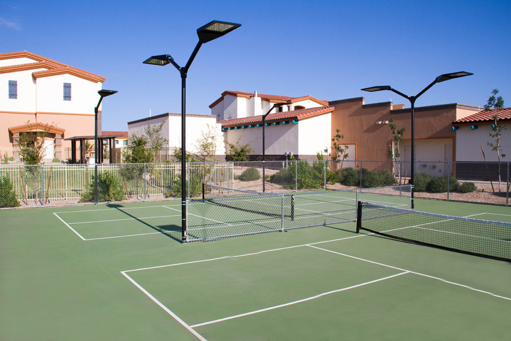 Play pickle ball with residents at Fellowship Square Surprise