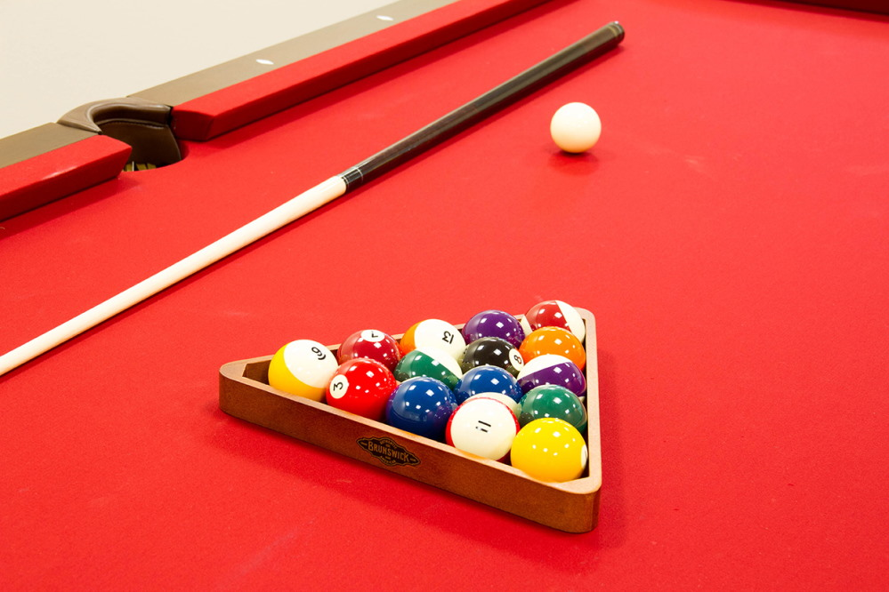 Pool game for residents at Fellowship Square Surprise