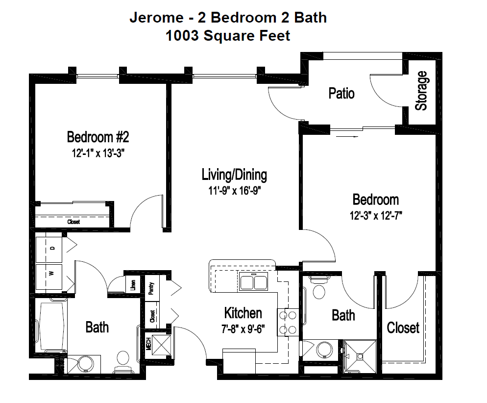 Independent Living Floor Plan, Jerome, at Fellowship Square Surprise as of Spring 2019