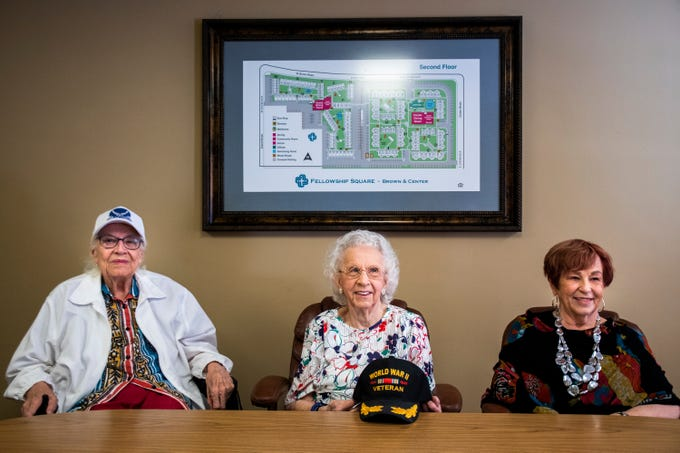 Three female veterans recall serving in WWII and the Korean War at Fellowship Square Historic Mesa