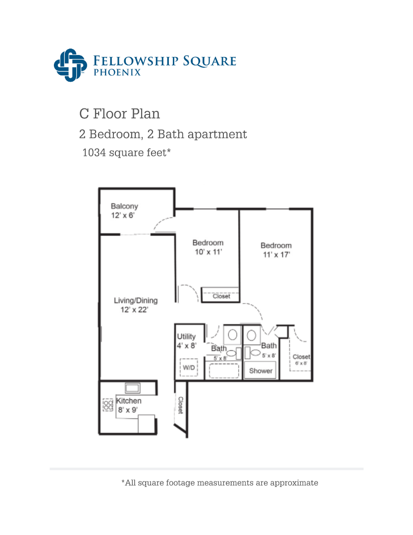 C Floor Plan 1034 square feet