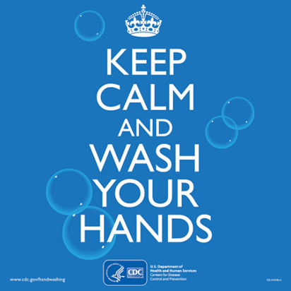 Graphic - keep calm & wash your hands