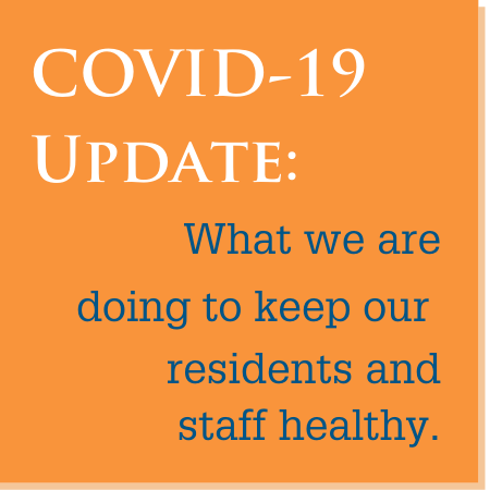 Orange Graphic - link to COVID-19 updates page