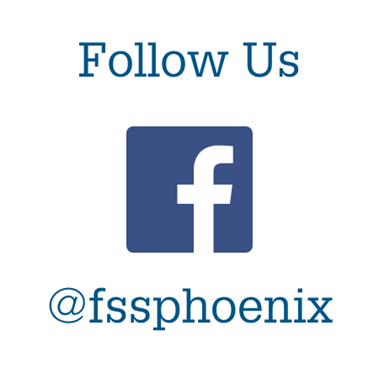 Facebook icon follow us @fssphoenix