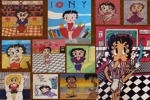 Betty Boop art that senior living residents made as a contest at Fellowship Square Historic Mesa