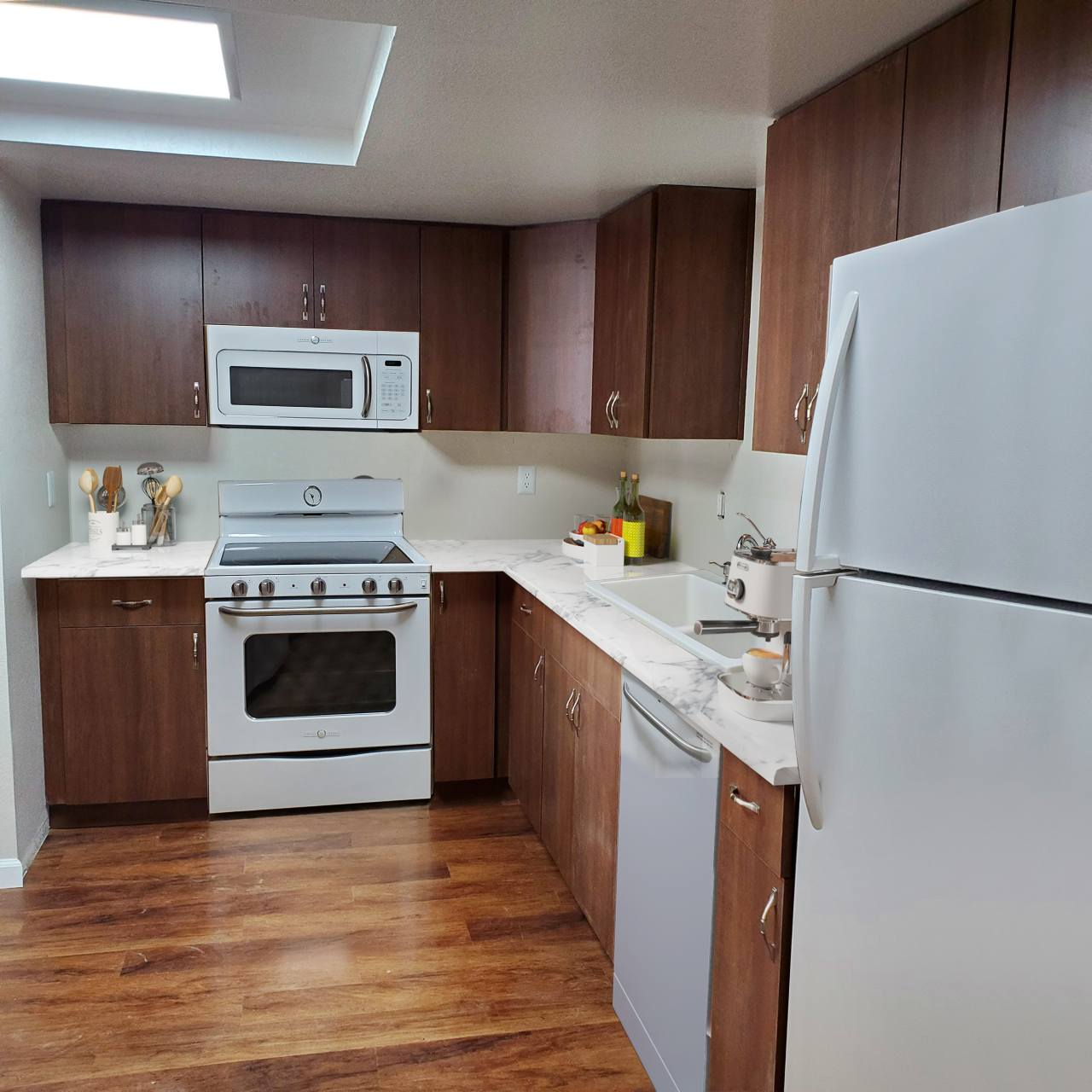 Photo of kitchen in senior living apartment