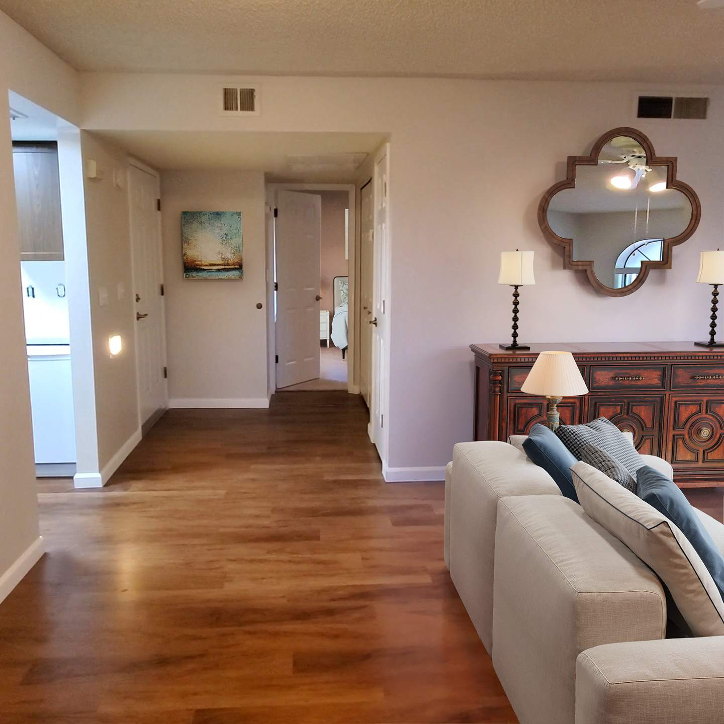 Photo of Living Room and entry in senior living Garden Home D