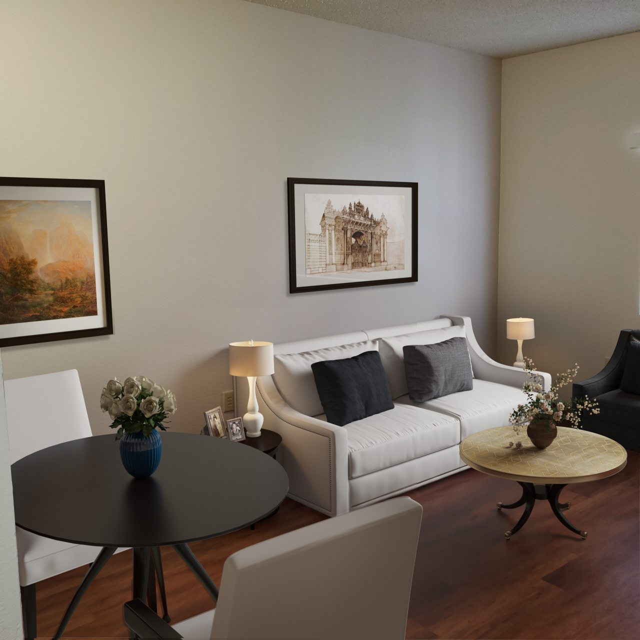 M2 1 BR Living Room 1 133Px